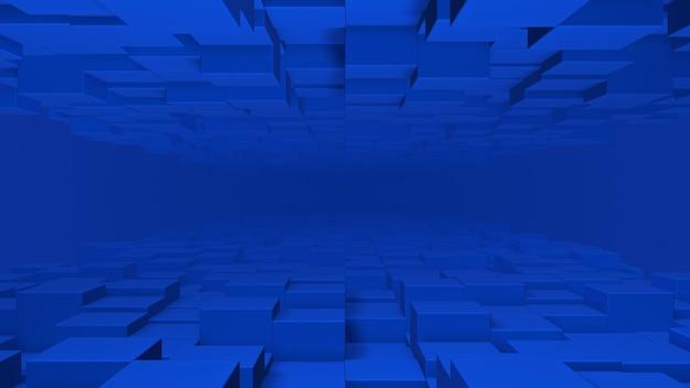 Абстрактные кубики 3d визуализации