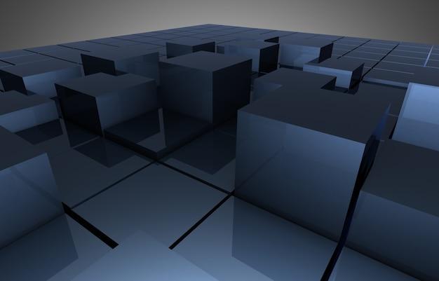 Абстрактная предпосылка блоков кубиков. 3d иллюстрация
