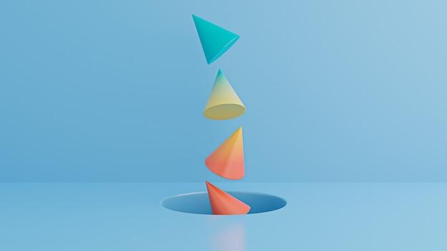青の最小限のabstract.cubes。