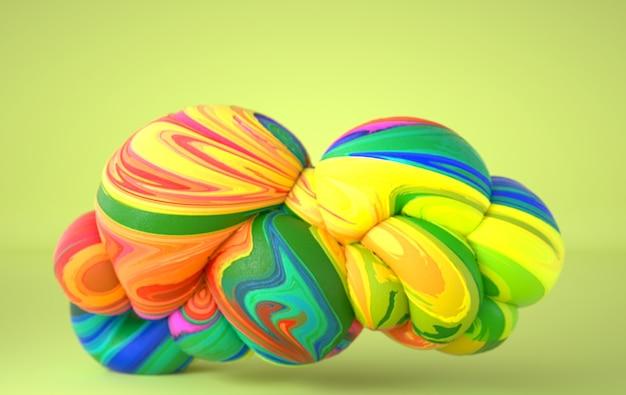 Абстрактные изогнутые органические гладкие мягкие формы с текстурой замороженного мороженого
