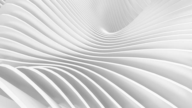 抽象的な曲線形状。白い円形の背景。抽象的な背景。 3 d イラストレーション