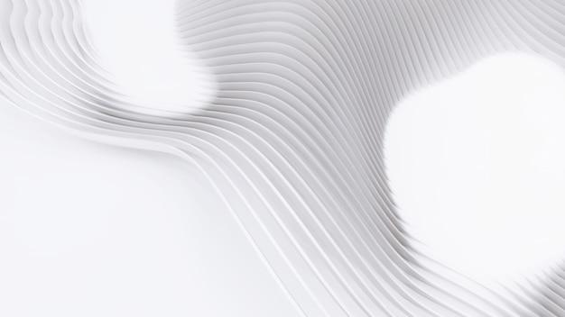 抽象的な湾曲した形状。白い円形の背景。抽象的な背景。 3dイラスト