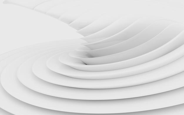 추상 곡선 모양. 흰색 원형 배경입니다.