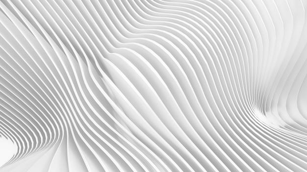 抽象的な曲線形状。白い円形の背景