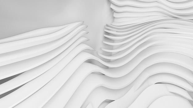 抽象的な湾曲した形状