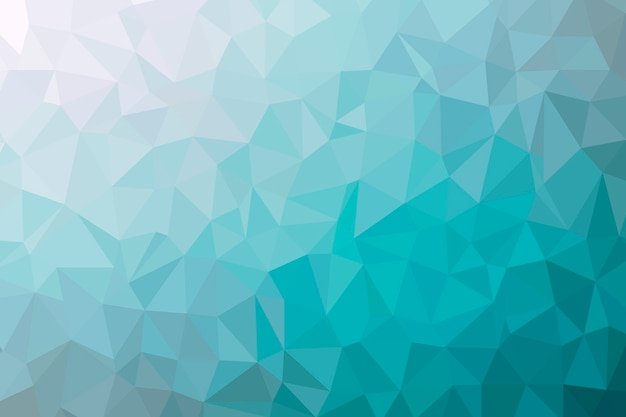Abstract cyan low poly background texture. creative polygonal backdrop illustration