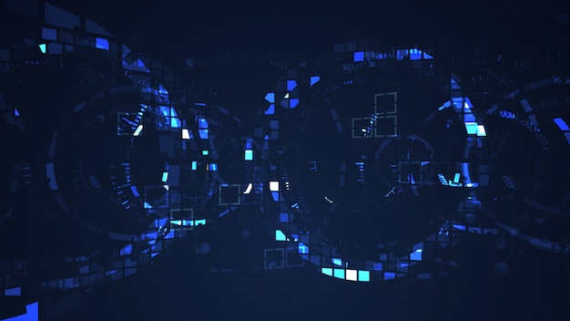 Abstract cyber circle internet futuristic technology concept