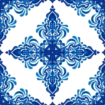 Абстрактный узор дамасской бесшовные декоративные акварельные краски. элегантная роскошная текстура для обоев, фонов и заливки страниц