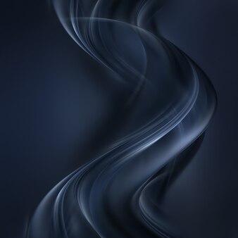 Абстрактный темный фон с плавными волнистыми линиями