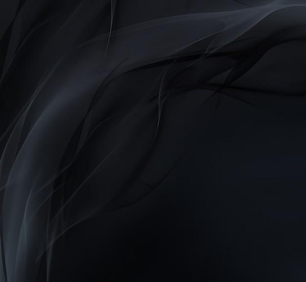 Абстрактный темный фон с плавными мягкими линиями