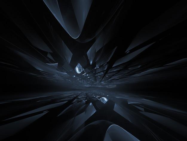 Абстрактный темный фон с горизонтом