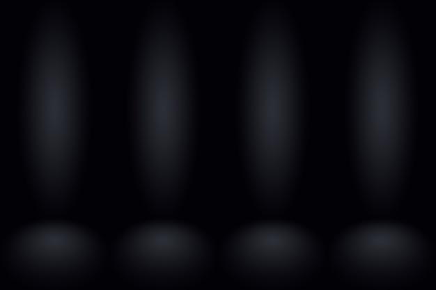 抽象ダークグレーテンプレート空白スペースダークグラデーション壁。モンタージュや製品の表示に使用されるダークグレーの空の部屋のスタジオグラデーション。