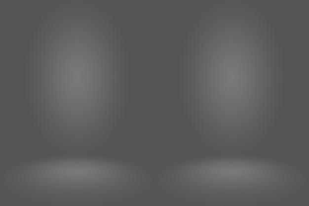 Абстрактный темно-серый шаблон пустое пространство темный градиент стены. темно-серый градиент пустой комнаты студии, используемый для монтажа или отображения ваших продуктов.