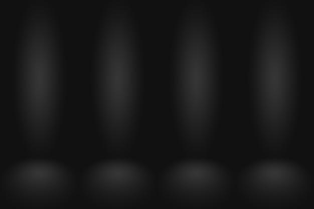抽象的な濃い灰色のテンプレート空白スペース暗いグラデーションの壁。