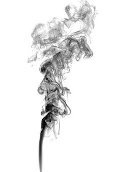 明るい背景に抽象的な暗い煙