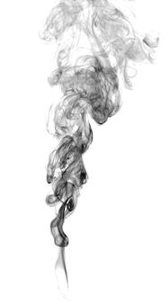 明るい背景の抽象的な暗い煙