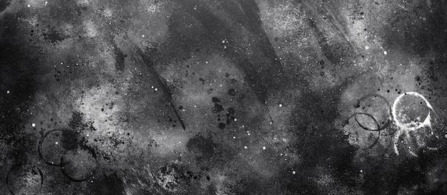 Абстрактный темный текстурированный фон, ручная роспись текстуры, акварель, брызги, капли краски, краски мазки.