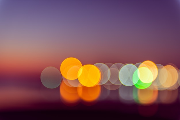 Abstract defocused colorful violet blue blurred bokeh background