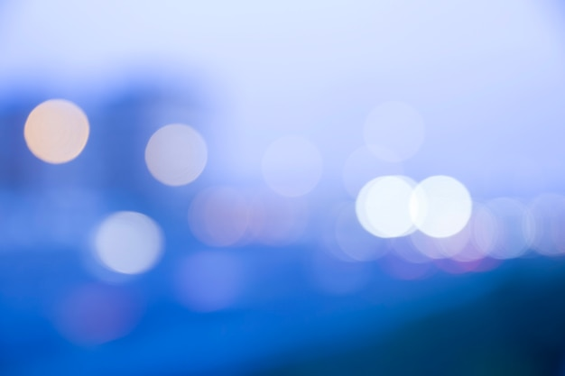 Abstract defocused evening city