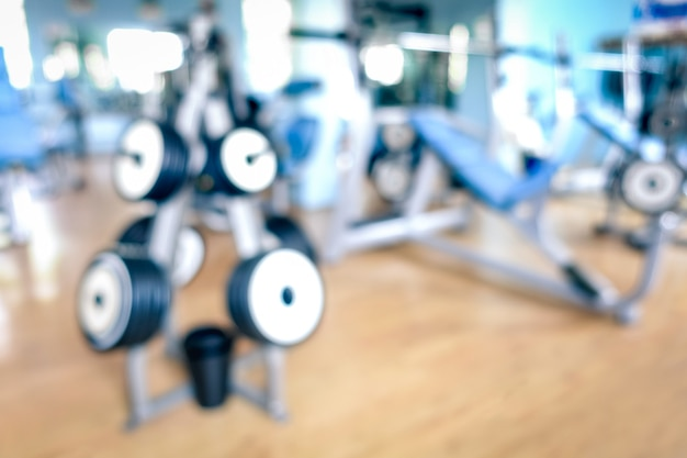 Abstract defocused gym background