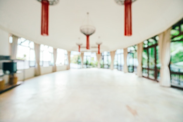 Abstract and defocused hotel lobby interior