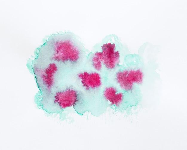 抽象的なデザインのピンクとグリーンの染色
