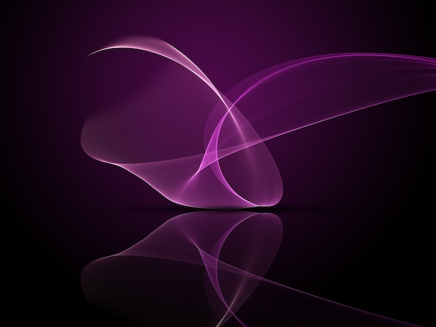 Abstract design of purple flowing lines
