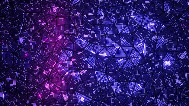 Abstract digital background. 3d render