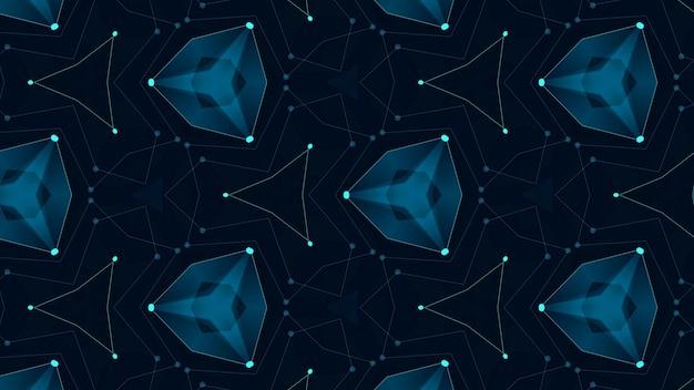 점과 선을 연결하는 추상 디지털 배경. 정보 기술 데이터