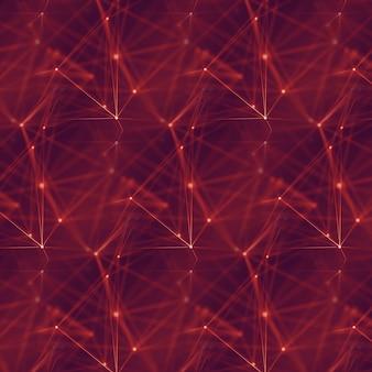 点と線を結ぶ抽象的なデジタル背景