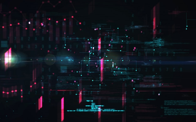 Abstract digital background. futuristic big data information technology concept. block chain