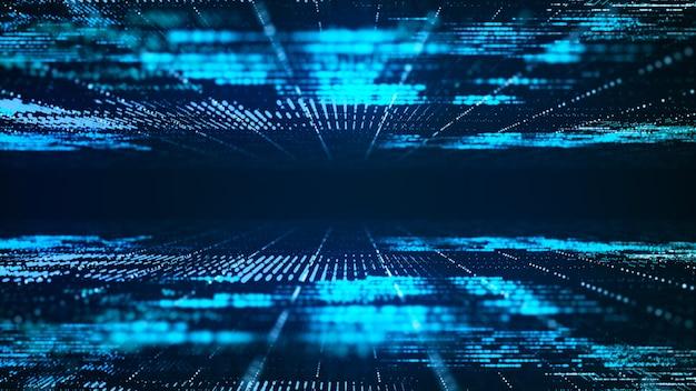 Abstract digital matrix background. futuristic big data information technology concept.