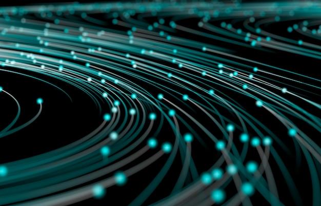 Абстрактный фон цифровых технологий. визуализация больших данных. структура сетевого подключения.