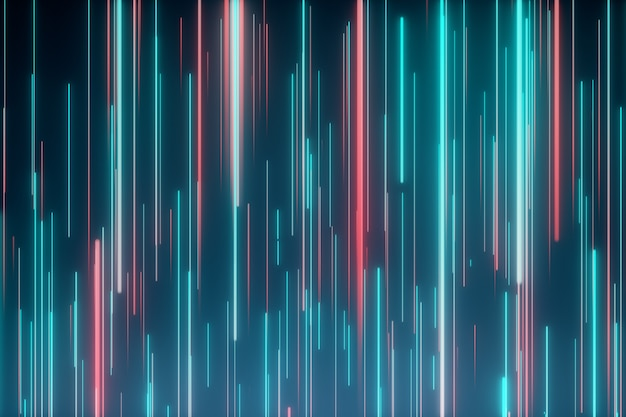 Abstract directional neon lines geometric background