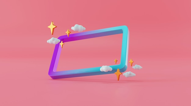 Abstract display  for product design in 3d illustration rendering