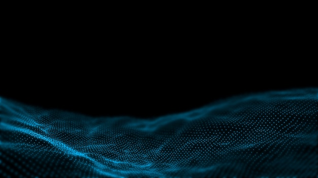 Abstract dot waves. concept for big data, high technology background