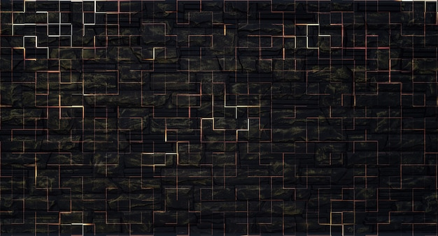 Abstract dual background of dark brick wall.