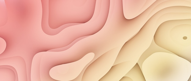 Abstract dynamic fluid overlap textured gradient background 3d