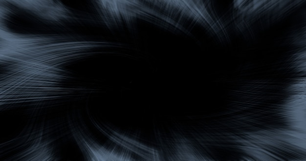 Abstract dynamic gray lines on black background with copy space.