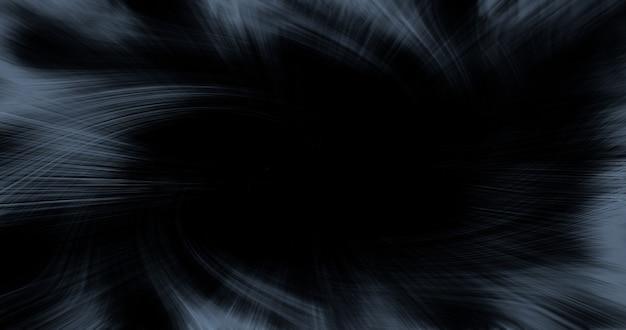 복사 공간와 검은 배경에 추상 동적 회색 선.