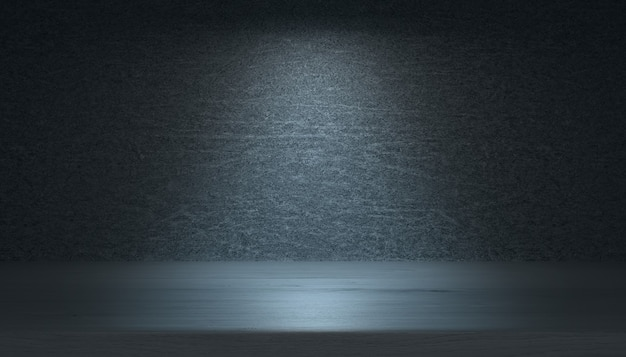Abstract empty dark studio room
