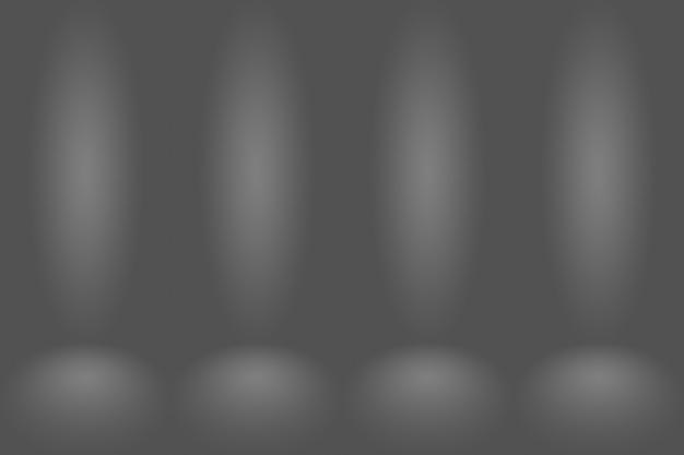 Абстрактный пустой темно-белый серый градиент с черной твердой виньеткой. студия стены и пол фон хорошо использовать в качестве фона. фон пустая белая комната с пространством для вашего текста и изображения.