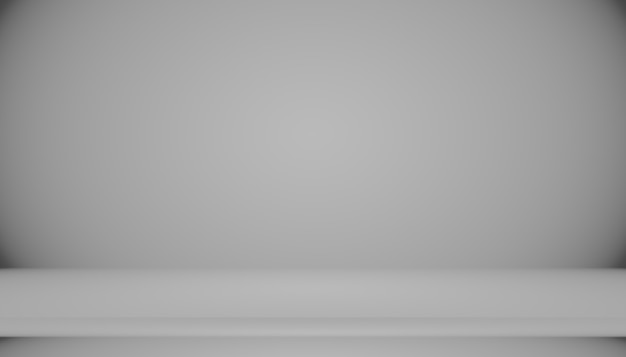 Abstract empty dark white grey gradient with black solid vignette lighting studio wall and floor background well use as backdrop. background empty white room with space for your text and picture