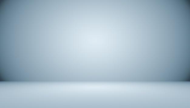 Gradiente di grigio bianco scuro vuoto astratto con illuminazione vignetta solida nera studio parete e sfondo del pavimento e utilizzare come sfondo. sfondo vuoto stanza bianca con spazio per il testo e l'immagine.