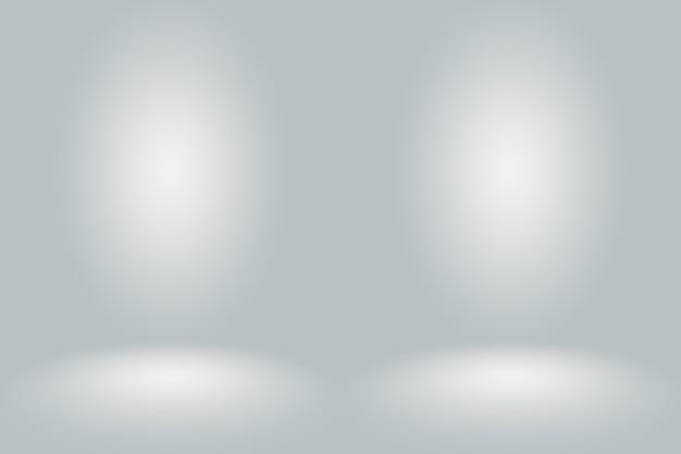 Gradiente grigio bianco scuro vuoto astratto con illuminazione vignetta solida nera studio parete e pavimento sfondo bene utilizzare come sfondo.