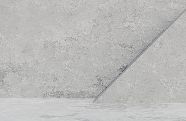 Абстрактная пустая комната бетонная стена фоновый стиль текстуры гранж., 3d модель и иллюстрация.