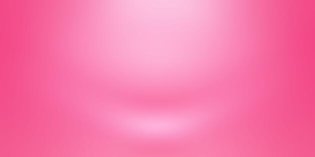 抽象的な空の滑らかなライトピンクのスタジオルームの背景、製品のディスプレイ、バナー、テンプレートのモンタージュとして使用します。 無料写真