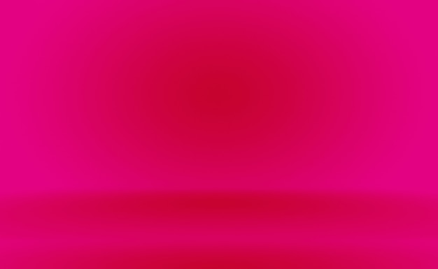 추상적으로 비어 있는 부드러운 연분홍 스튜디오 룸 배경은 제품 디스플레이 배너 온도를 위한 몽타주로 사용됩니다.