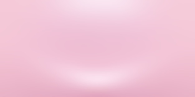 Fondo astratto vuoto liscio rosa chiaro della stanza dello studio, uso come montaggio per l'esposizione del prodotto, striscione, modello.