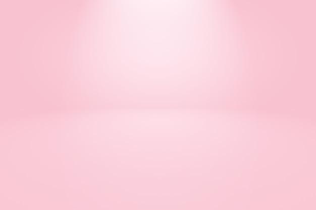Абстрактная пустая гладкая светло-розовая предпосылка комнаты студии.
